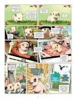 Du lard (publicitaire...) et du cochon (planches 1, 2 et 4 - Glénat 2019)