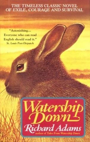 """Deux sources d'inspiration : couverture de """"Watership Down"""" (réédition Avon Books 1975) et affiche américaine pour """"Babe, le cochon devenu berger"""" (1995)"""