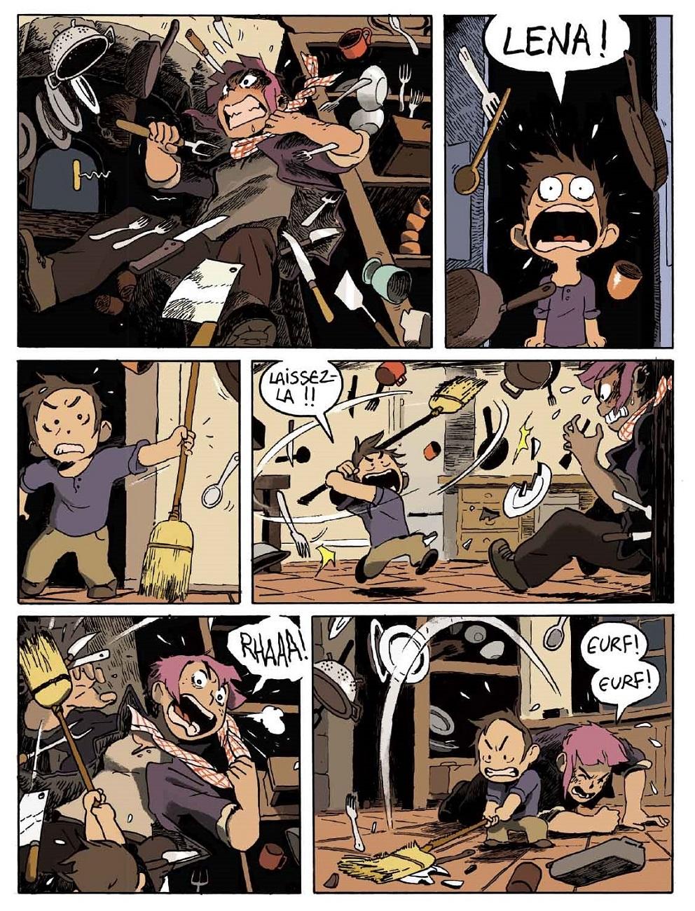 Lena luttte contre un korrigan