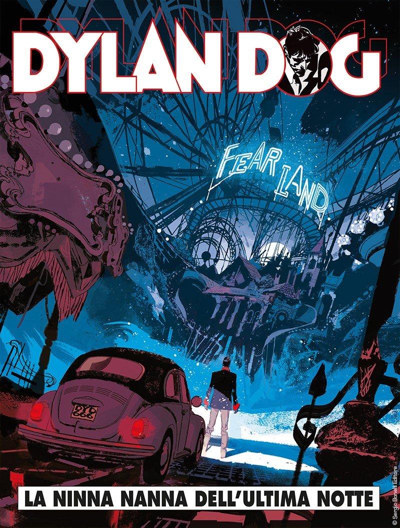 Couverture de la version originale du n° 367 de Dylan Dog, dessinée par Gigi Cavenago.