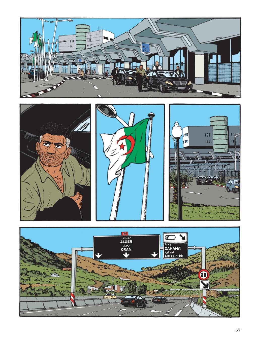 Retour en Algérie (planche 53 - Dupuis 2019)