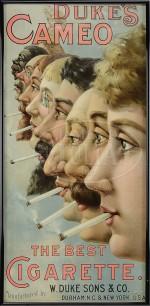 Ancienne publicité US pour les cigarettes Duke and Sons