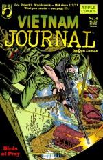 Une des couvertures comics originales reprises en n/b dans l'album