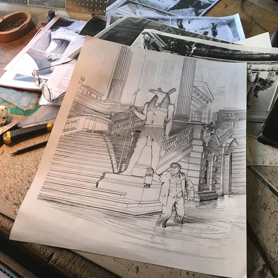 Crayonné original pour la couverture de la version classique
