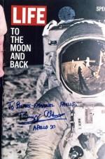 Numéro de Life dédicacé par Aldrin pour Pierre-Emmanuel Paulis