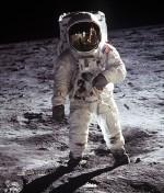 Aldrin photographié par Armstrong en juillet 1969