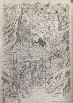 """Crayonné pour """"Le Millième bras du Mékong"""" (Dargaud et Centaur Club - 2019)"""