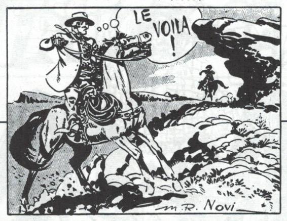 Extrait d'un récit complet illustré par Novi dans Le Journal des Pieds Nickelés n° 27 en juillet 1950.