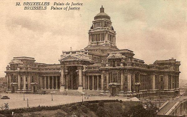 Le Palais de Justice de Bruxelles au début du XXe siècle