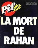 Un choc : la mort de Rahan dans Pif Gadget en août 1977