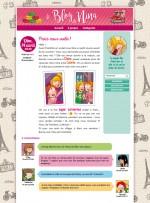 Une page du blog de Léonie