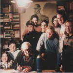 Alberto Breccia et ses derniers élèves, en 1993