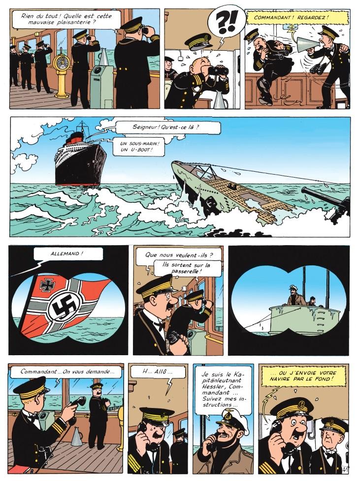 Un U-boot nazi menace le Normandie