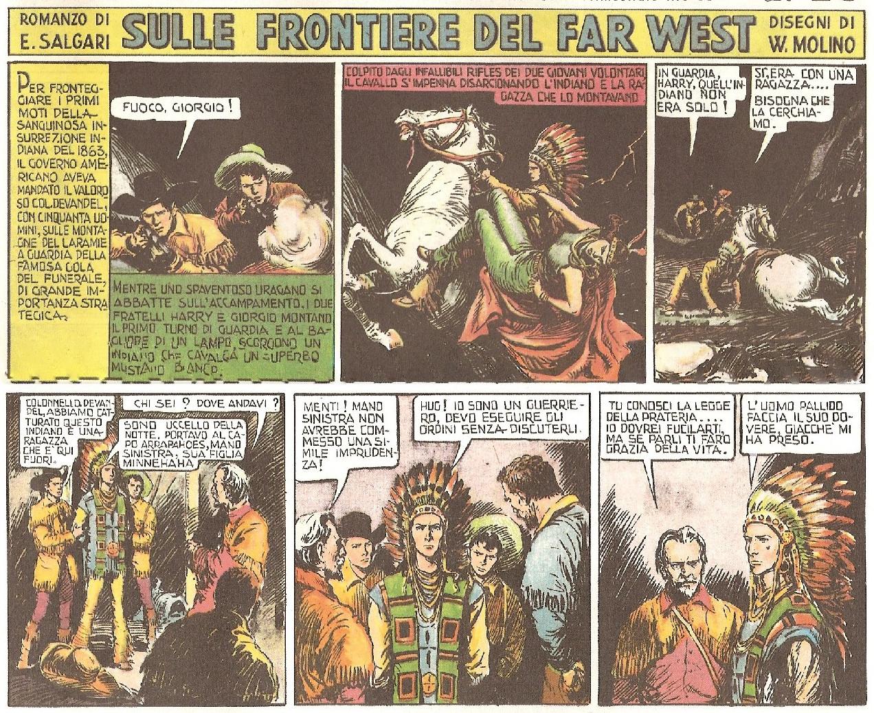 « Sulle frontiere del Far West » par Walter Molino - d'après Emilio Salgari.