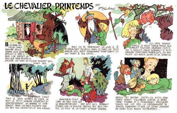 « Le Chevalier Printemps » par Jen Trubert et Roger Lécureux.