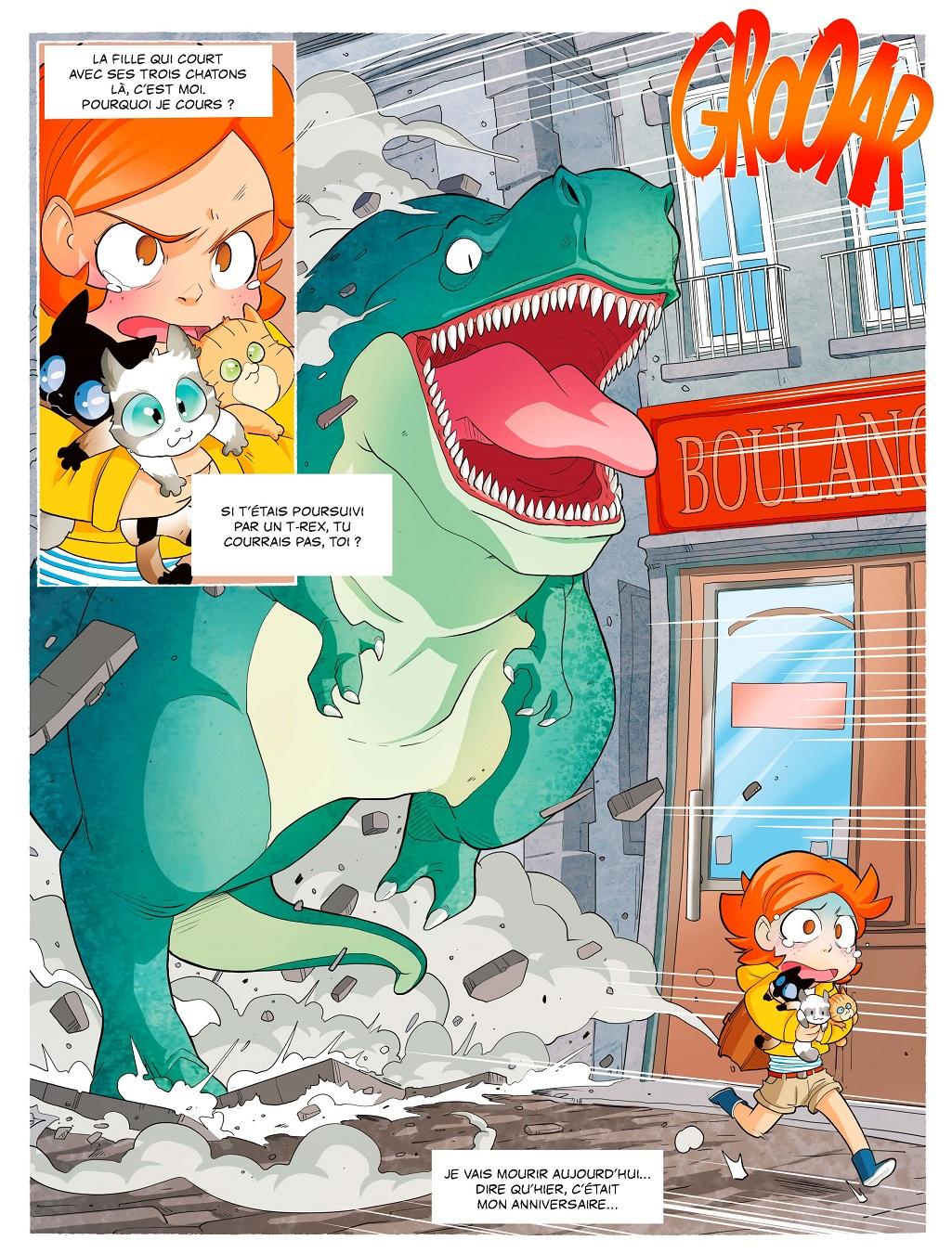 Des dinosaures dans la cité malouine