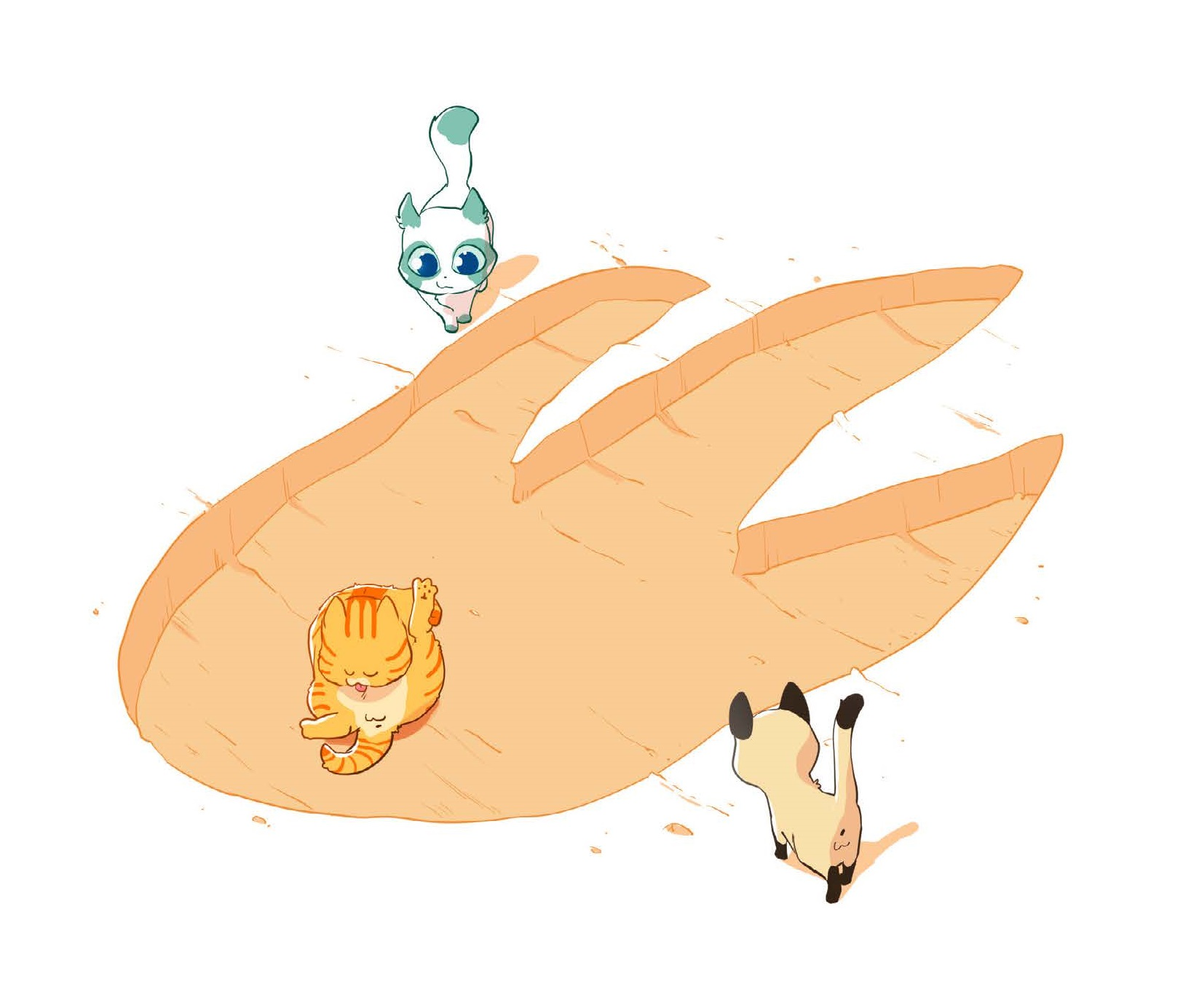 Chatons VS Dino - dessin