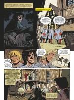 T1 (planche 8) : un bon exemple du travail de composition documentaire et des nombreuses recherches de personnages exigées par cette trilogie.