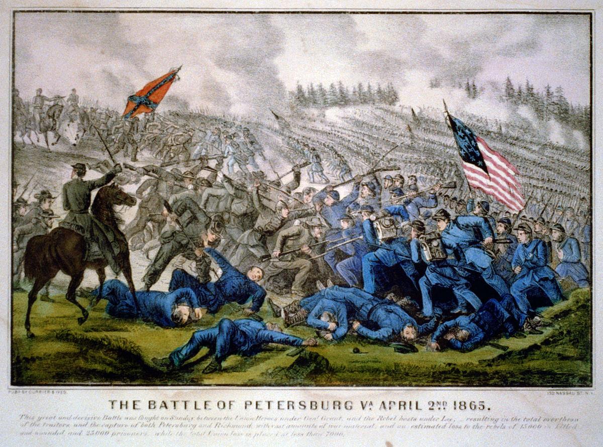 Petersburg sera le théâtre de plusieurs batailles et assauts entre juin 1864 et mars 1865.