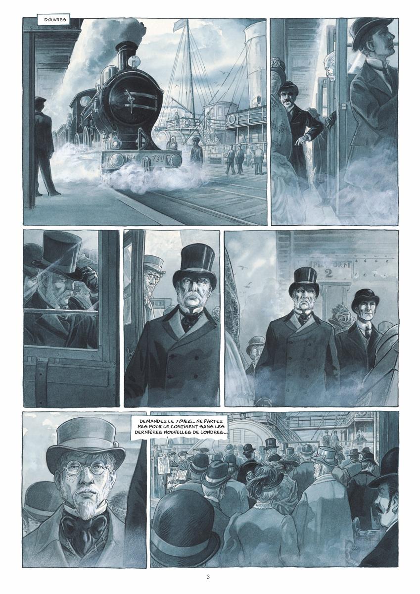 Wiggins dans les pas de Mycroft Holmes, frère de Sherlock qui occupe un poste important mais mystérieux au sein du gouvernement britannique (planches 1 et 2 - Futuropolis 2019)