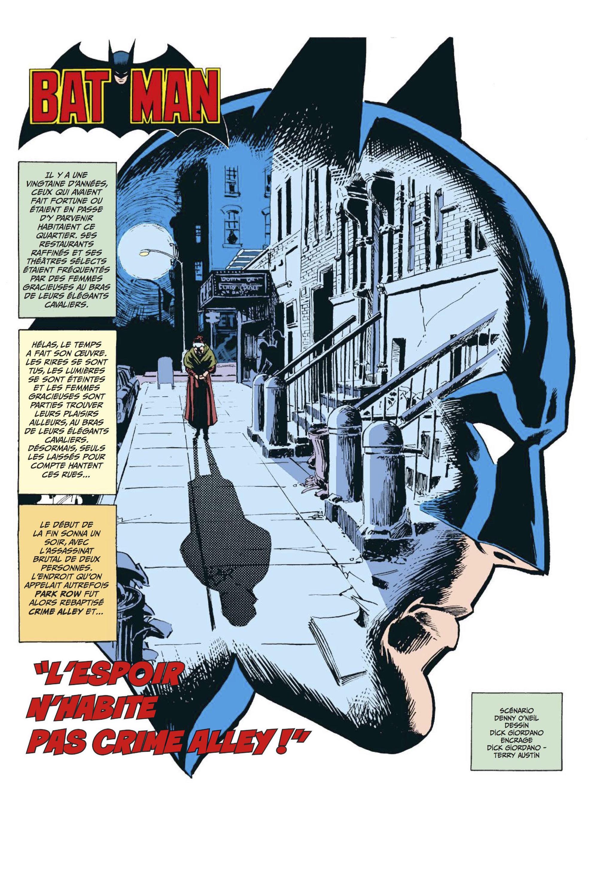 Batman 90 ans espoire Crime Alley