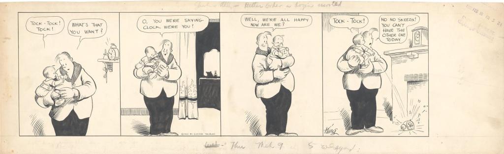 Strip original de « Gasoline Alley ».