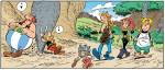 Selfix, Adrenaline, Blinix et le jeune Surimix, envahissants ados ? (Astérix® - Obélix® - Idéfix® / © 2019 Les Éditions Albert René)