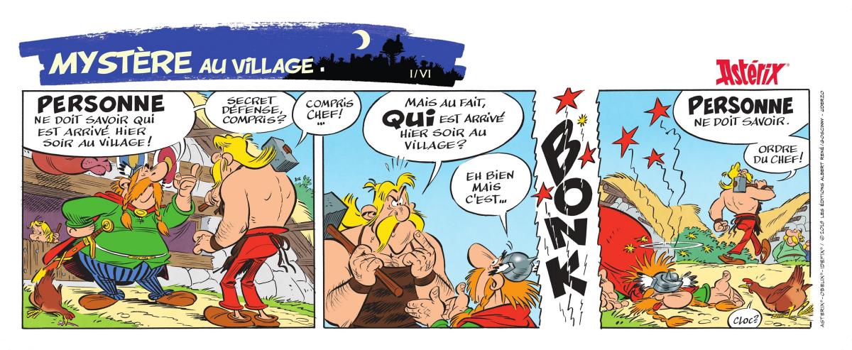 Les six strips promotionnels dévoilés cet été...