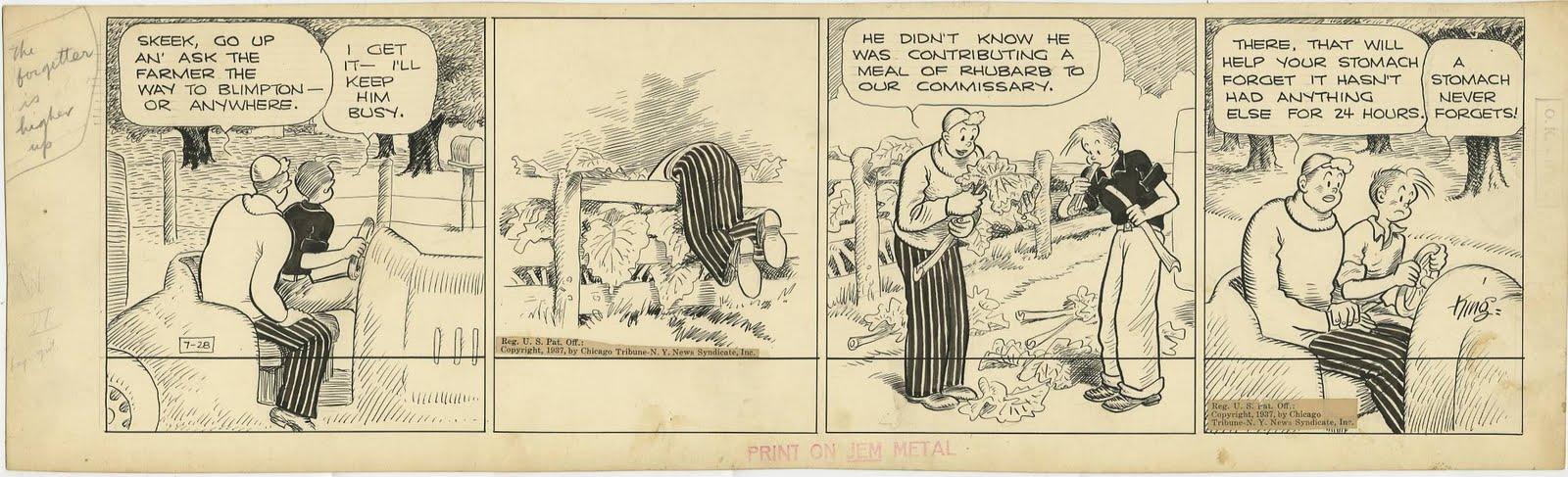 Strip original de « Gasoline Alley » (1937).