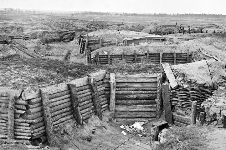 Le réseau défensif aux abords de Petersburg