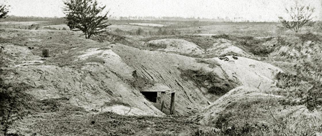 """La zone du """"cratère"""" en 1865"""