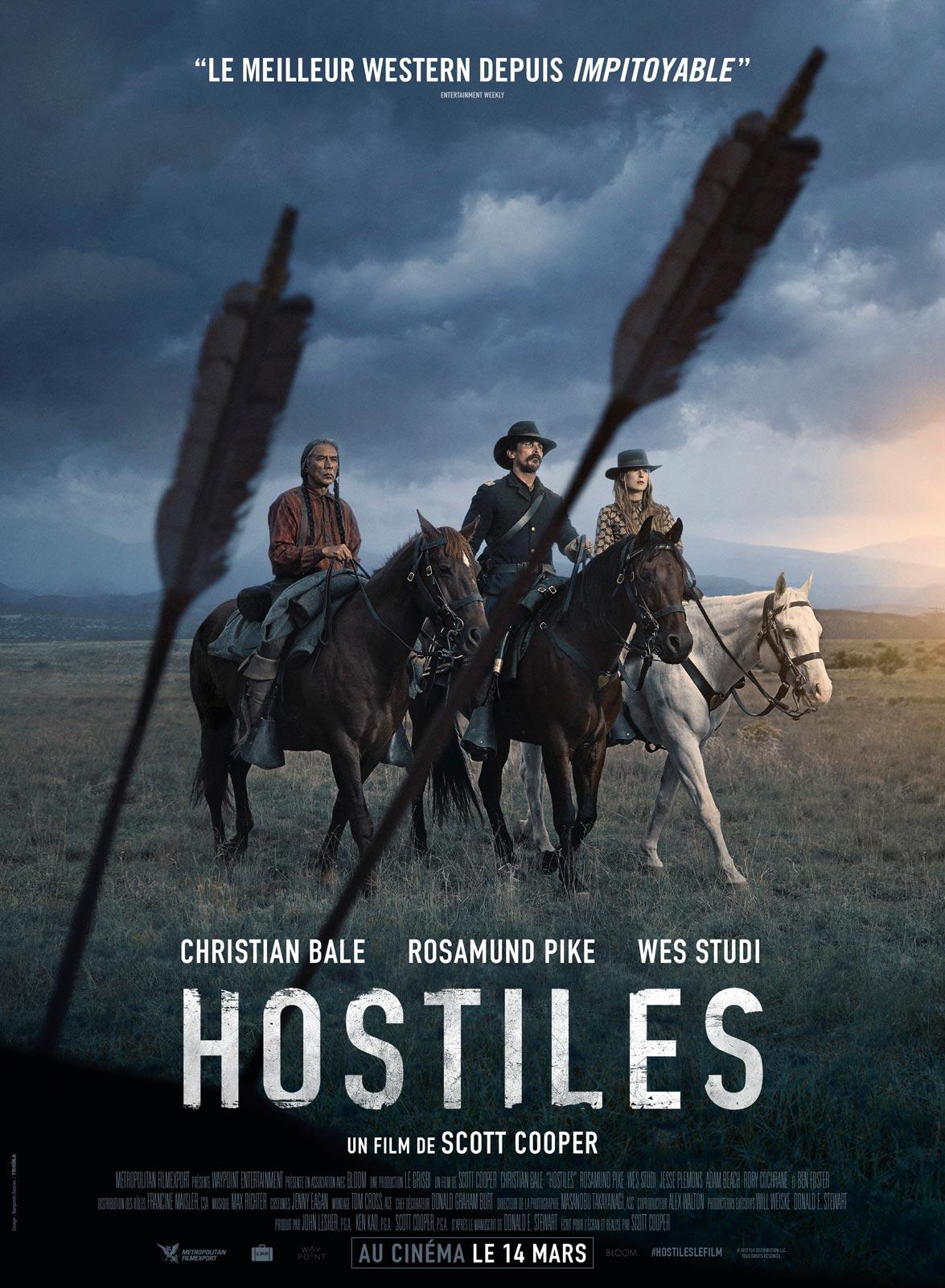 """Affiche française pour """"Hostiles"""" (Scott Cooper, 2017)"""