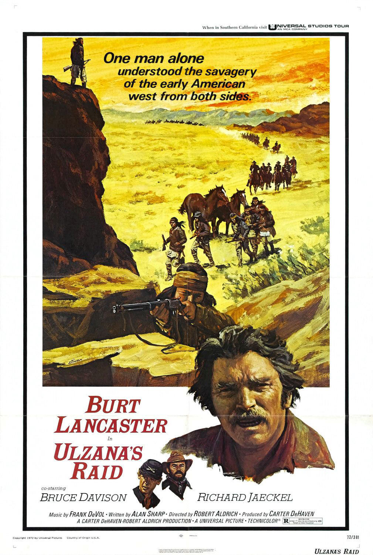 """Affiche US pour """"Ulzana's Raid"""" (""""Fureur Apache"""") de Robert Aldrich (1972)"""