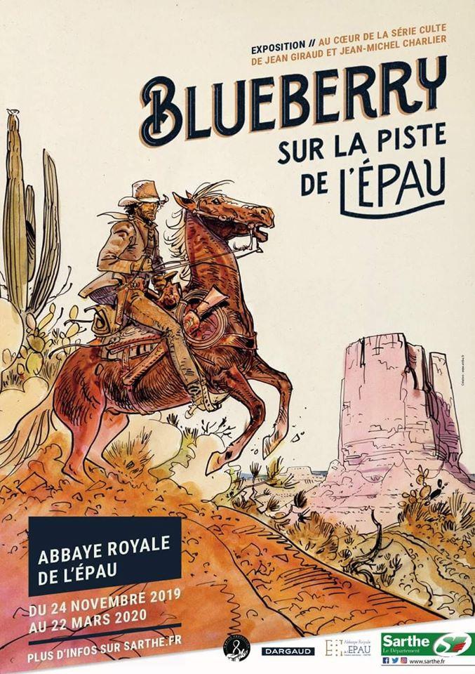 Le Western dans l'Epau : visuel de l'exposition Blueberry (2019 - 2020)