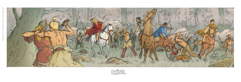 Illustration pour un ex-libris (librairie Brüsel)