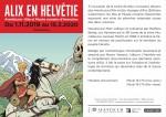 """Flyer de l'exposition """"Alix en Helvétie""""."""