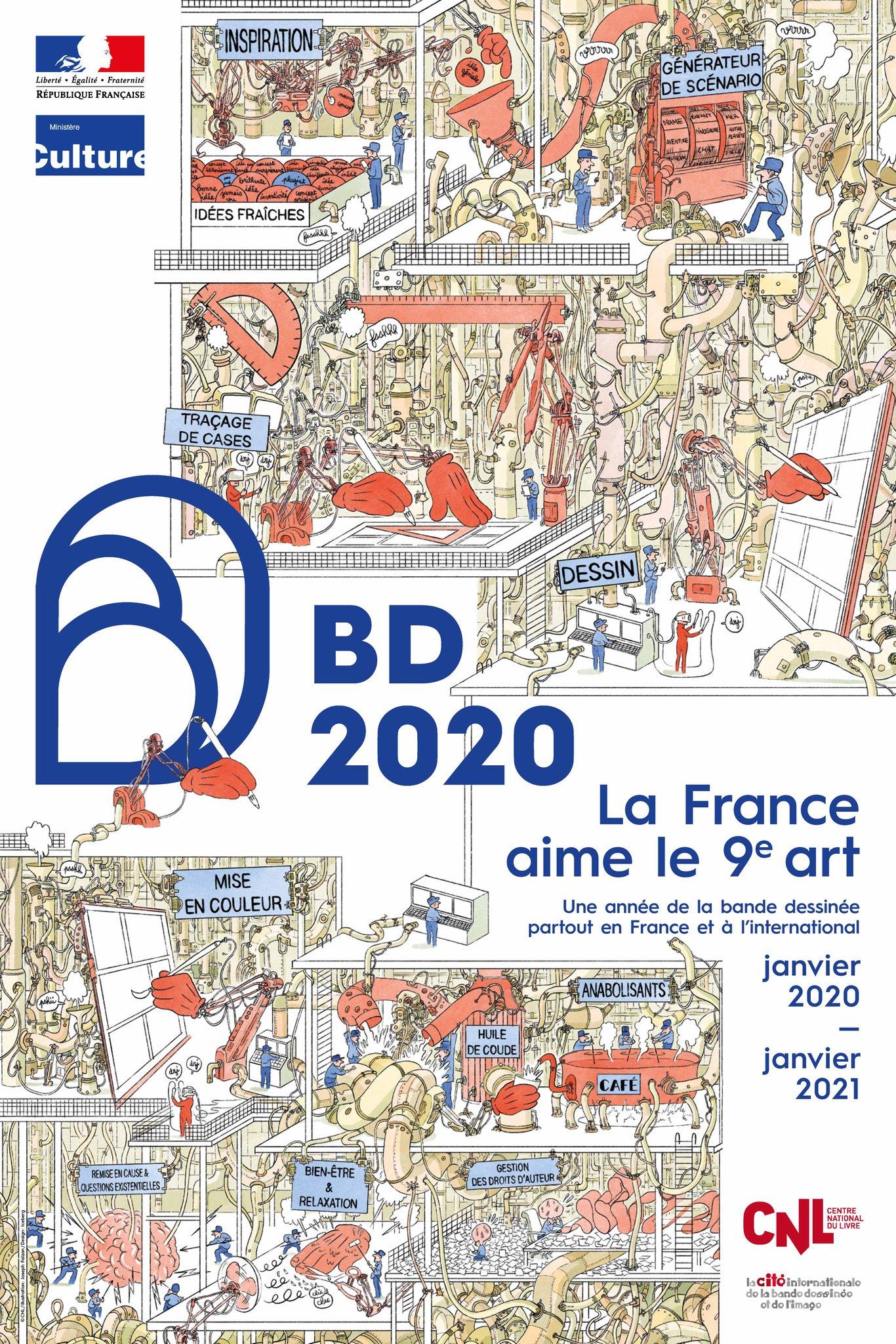 """Joseph Falzon est le dessinateur de l'affiche """"2020 - Année de la BD""""."""
