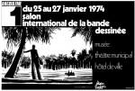 L'affiche du premier salon international de la BD d'Angoulême, signée Hugo Pratt.