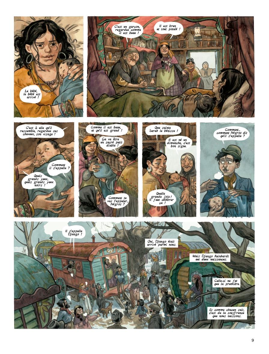 La promesse d'une vie nomade (planche 3 - Dupuis 2020)