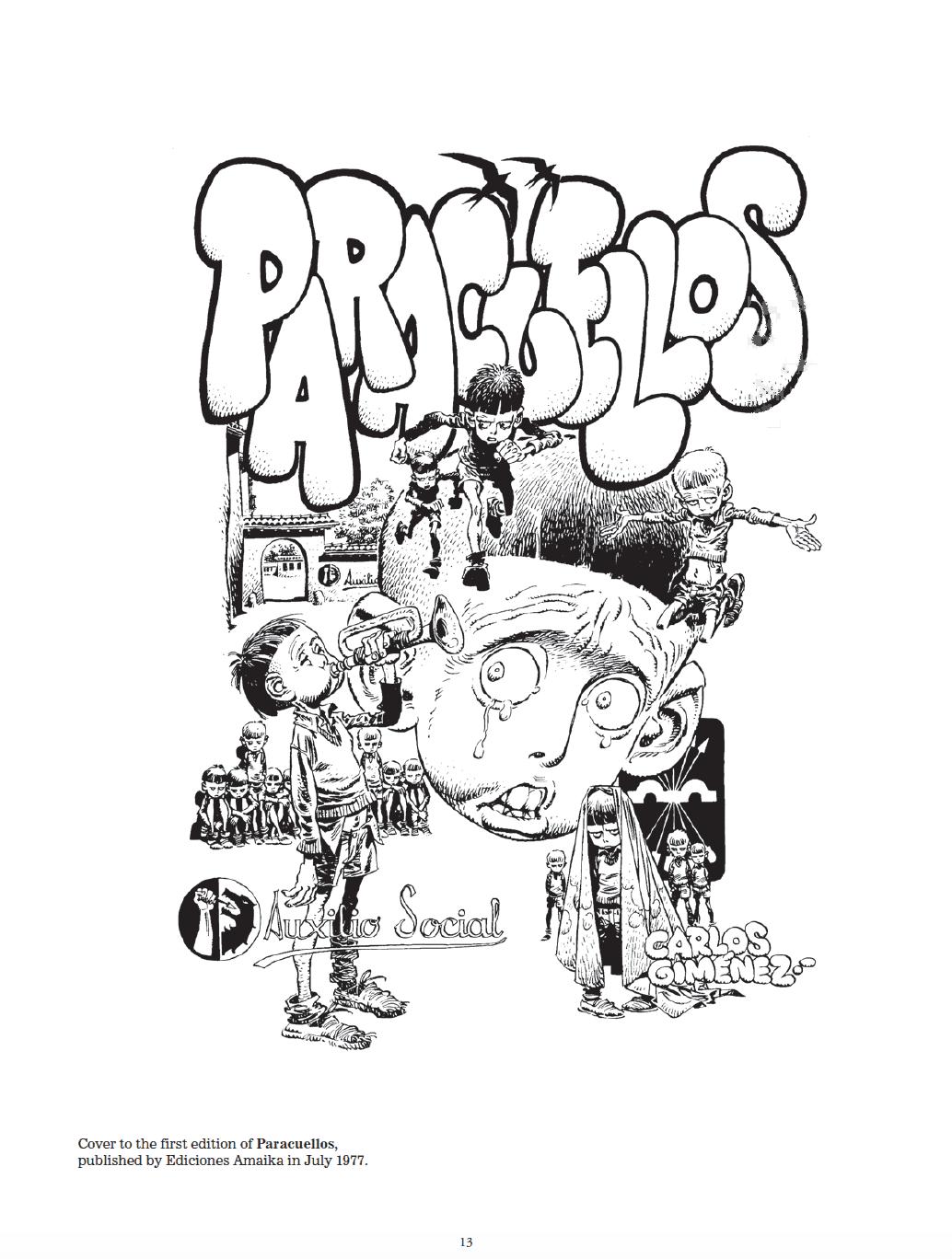 Couverture pour la 1ère édition de Paracuellos en 1977.