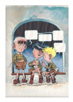 Visuel original réalisé lors de la réédition hispanique du T2 de Paracuellos en 2000 (Editores De Tebeos)
