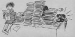 Son premier dessin publié dans un magazine BD : illustration du courrier dans le n° 28 de Record d'avril 1964.
