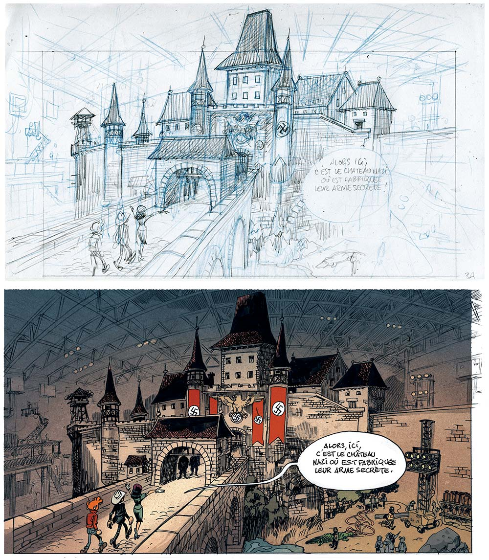 Le nazisme érigé comme nemesis hollywoodienne : une aventure que Spirou vivra plus directement sous les crayons d'Emile Barvo