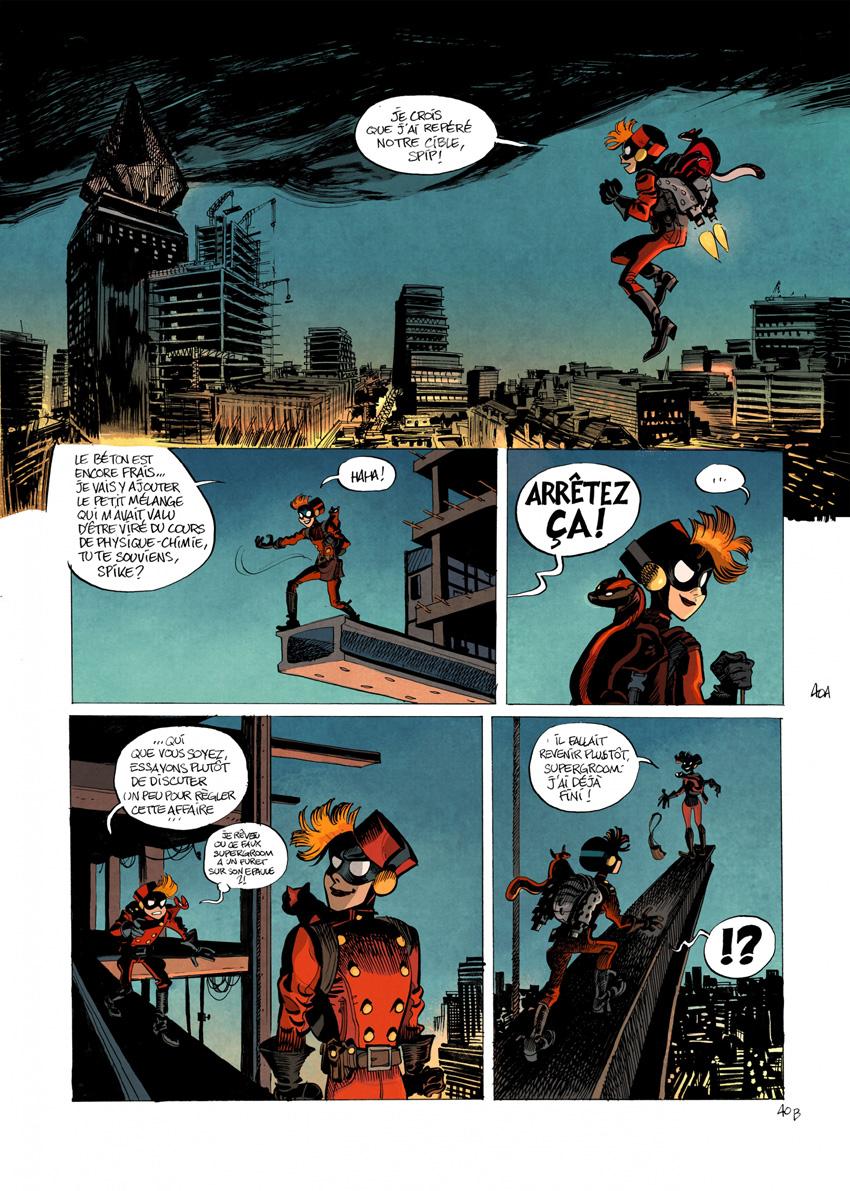 Il y a un SuperGroom de trop dans cette ville ! (planche 40 - Dupuis 2020)