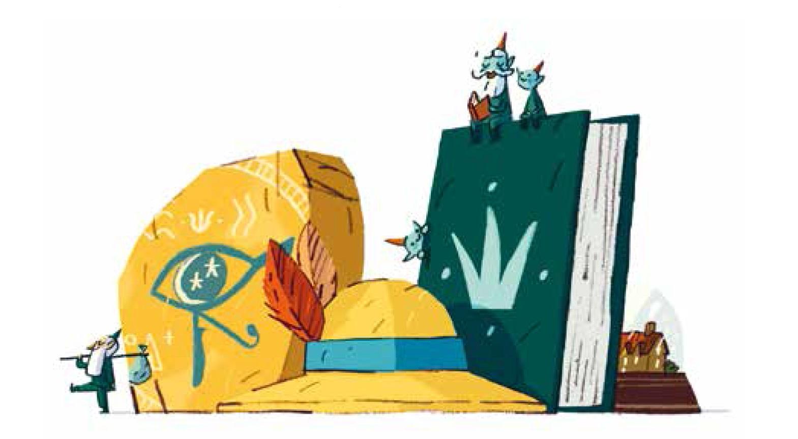 Lucie et l'énigme du sphinx dessin