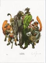 Blacksad and friends (ex-libris pour la librairie Brüsel en 2010)