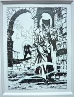 L'évolution graphique du héros (ex-libris pour la librairie Super-héros en 2000)