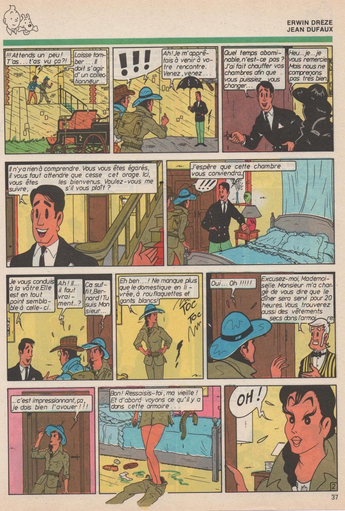 « L'Appel aux égarés », avec Jean Dufaux, dans le Super Tintin n° 30 de septembre 1985.