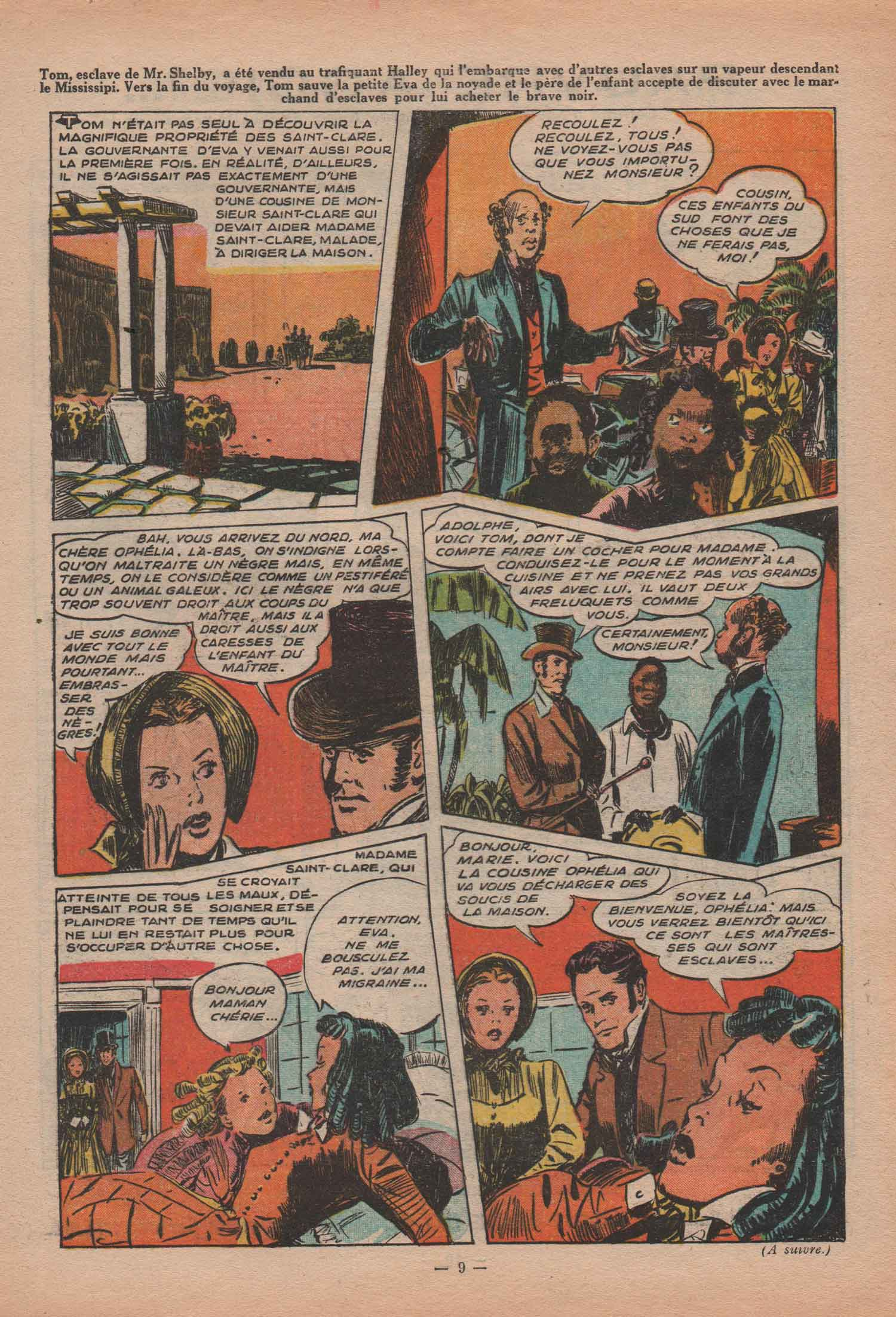 « La Case de l'oncle Tom » dans Fillette n° 371 (27/08/1953).
