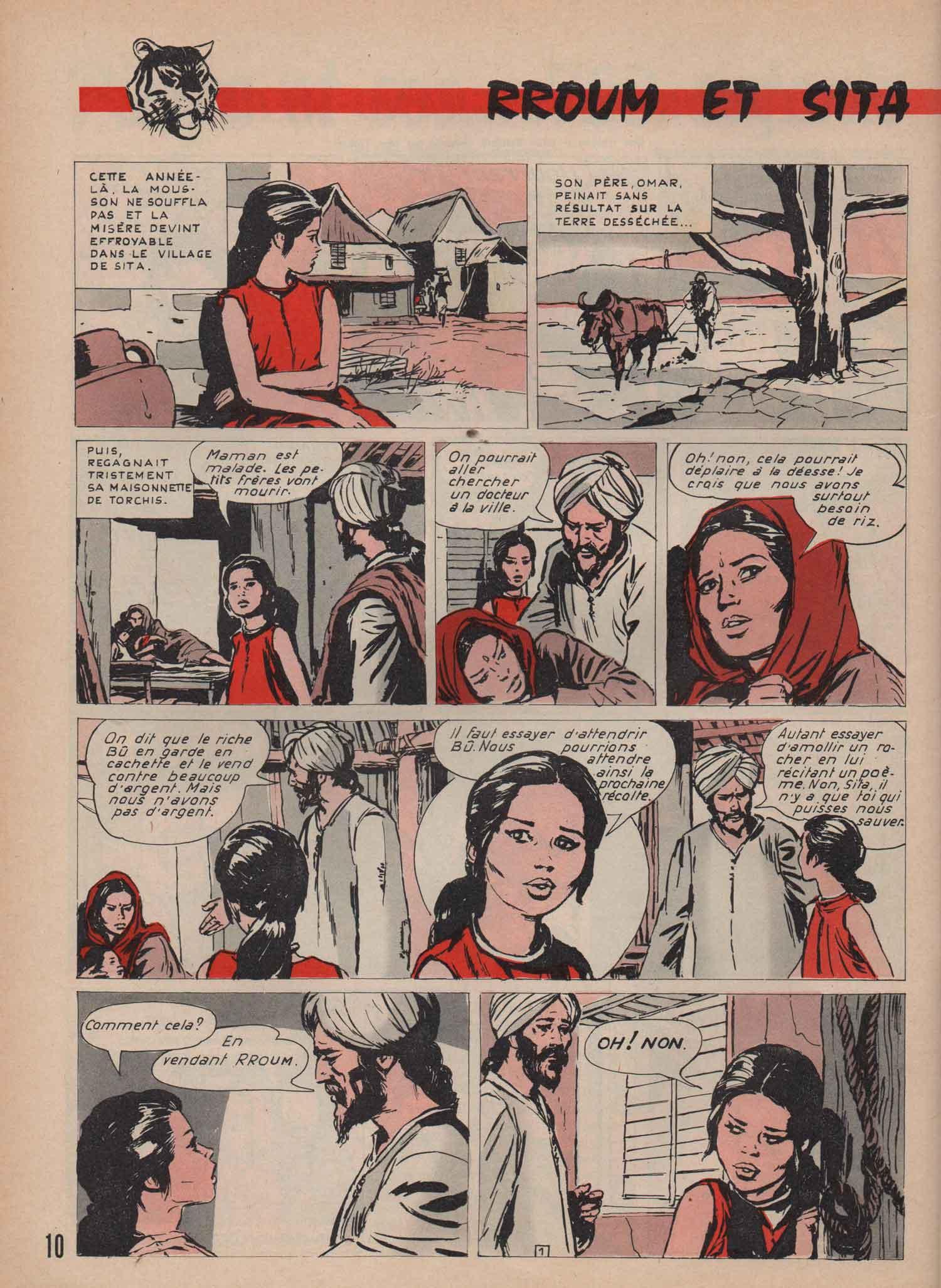 « Rroum et Sita » dans Lisette n° 38 (18/09/1966).